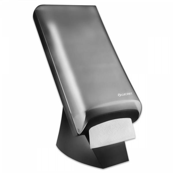 LUCART Thekenspender TABLETOP schwarz/grau