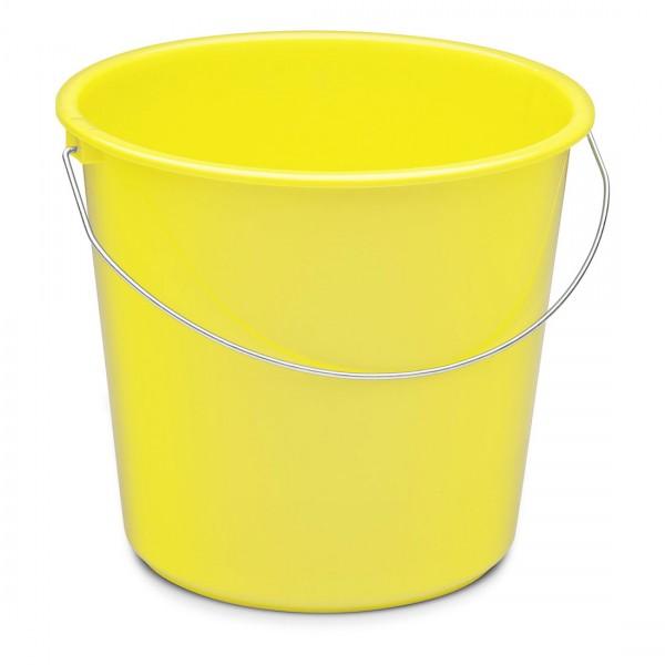 Haushaltseimer, gelb, 10 Liter, Kunststoff