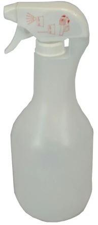 Mehrweg Sprühflasche mit Sprühkopf NEPTUN 1000 transparent-weiß