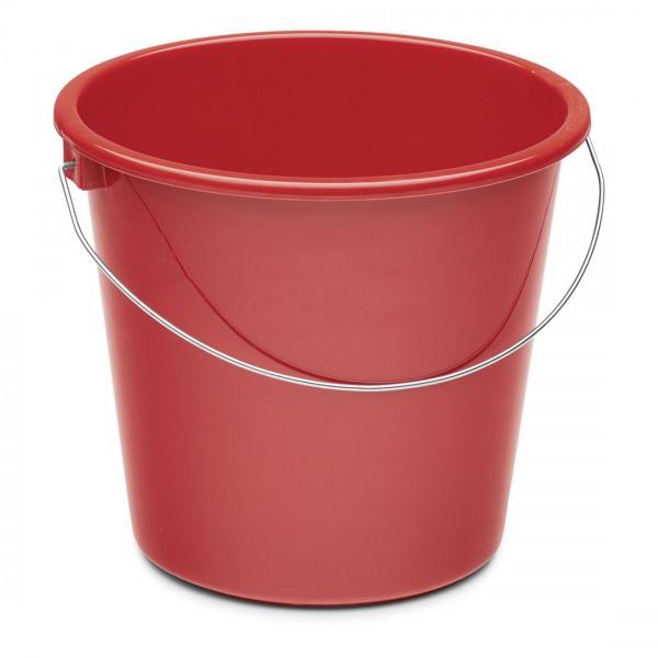 Nölle Haushaltseimer, rot, 10 Liter, Kunststoff