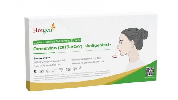 HOTGEN Coronavirus (2019-nCoV) - Antigentest (Laientest - Selbsttest) - 1er Pack
