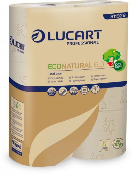 ECO NATURAL 6.3 fiberpack® Toilettenpapier 3-lagig